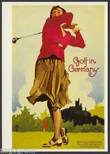 MODERN GOLF POSTER POSTCARD - Golf in Germany