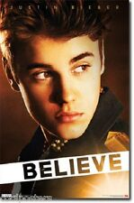 TEEN IDOL JUSTIN BIEBER BELIEVE POSTER 22x34 NEW FREE SHIPPING
