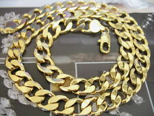 Costume Jewelry Heavy HUGE  Men's 24k gold filled necklace 12MM Curb chain