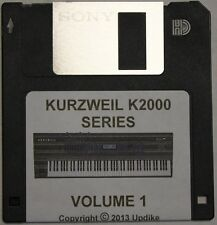 "Kurzweil K2000/K2500/K2600 Series Synthesizer "" Volume 1"" Custom sound programs"