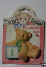"CHERISHED TEDDIES  ""PERSONALIZED - LAPEL PIN LETTER  'I'""  203297I  MINT"