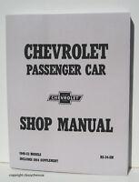 1949 1950 1951 1952 1953  Chevrolet Passenger Car Shop Manual NEW