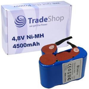 Trade-Shop Ni-MH Akku 4500mAh 4,8V für Vileda AS193E9A Akkubesen