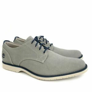 Timberland Men's Woodhull Light Grey Canvas Oxford Shoes A1XSB ALL SIZE