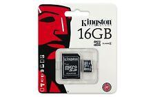16 GB Original Kingston Micro SD Tarjeta de memoria SDHC Clase 4 Adaptador de tarjeta SD &