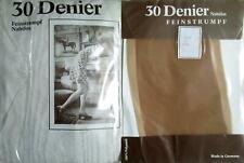 1 x NYLONS - FEINSTRUMPF - 30 DEN - 60/70er - GR. 9