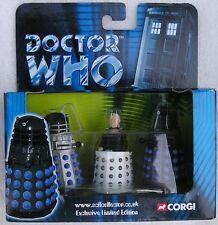Dr Doctor Who Corgi Davros & Two Daleks Box Set - New & Boxed