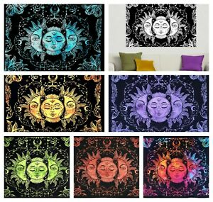 TAROT CARD SUN Cotton Wall Hanging Poster Tapestry Hippie Bohemian Mandala