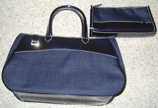 Estee Lauder Tote Purse & Smaller Bag Deep Dark Navy! Free Shipping!