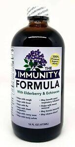 "The Immunity Formula Tonic with 'Organic Elderberry' and ""Echinacea"", 16 Ounces"