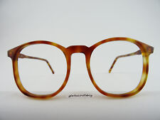 Pantobrille Vintagebrille riesig groß braune Hornoptik Damen/Herren Gr. L 54[]20