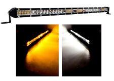 "20"" White Amber Ultra Slim Dual Color Changing Osram LED Light Bar Offroad 12v"