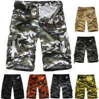 Men Military Combat Camo Cargo Shorts Pants Work Short Army Trouser Casual