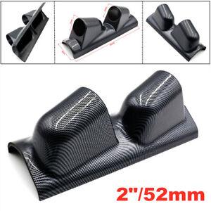"""2""""/52mm Carbon Fiber A Pillar Pod 2 Hole Gauge Holder Pod Drivers Side/Left Side"""