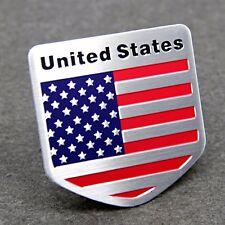 US USA Flag Sticker American Emblem Metal Badge Decal Car Auto Logo Universal