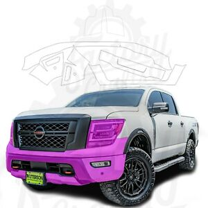 Paint Protection Film Clear PPF for Nissan Titan 2020 Bumper & Lights