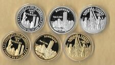 Lest We Unites Remember 911 9-11 Challenge Commemorative 3 Gold & 3 Silver Coins