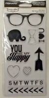 Fiskars 106000-1001 Teresa Collins - Clear Acrylic Stamps - You Are My Happy