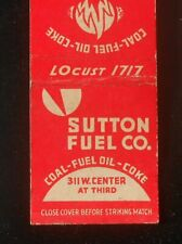 1940s Sutton Fuel Co. Coal Fuel Oil Coke 311 W. Center at Third Milwaukee WI MB