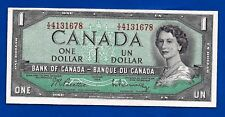 1954 CANADA Canadian ONE 1 DOLLAR BILL prefix X/Z NOTE crisp high AU-UNC offcut