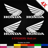 4 Autocollants HONDA Ailes Stickers Moto Adhésifs Déco Scooter Bécane