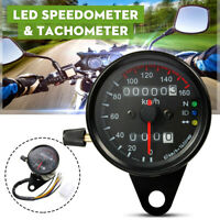 "2.5"" Universal Motorcycle Odometer Speedometer Tachometer Speedo LED"