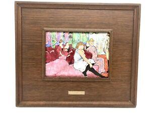 MCM Framed Enamel Plaque Toulouse - Lautrec