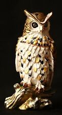 """St Petersburg Russian Faberge Collection: Owl Trinket Box 3.3"""""""
