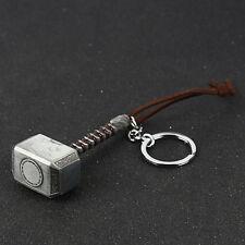Men Marvel Avengers Thor Thor's Hammer Metal Keyring Keychain Key Holder Gift