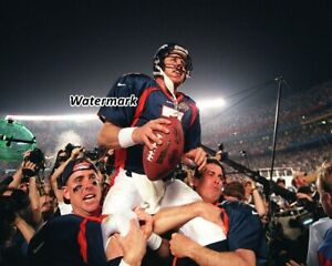 NFL 1997 Denver Broncos QB John Elway Super Bowl Champs Color 8 X 10 Photo