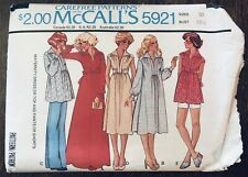 Vintage 1970s McCalls 5921 Sewing Pattern Size 10 Bust 32 1/2 Maternity Dress