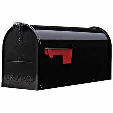 Elite Post-Mount Mailbox, Medium, Black Steel -E1100B00