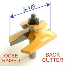 "1pc  1/2"" SH 3-1/8 Dia. Ogee Raised Panel w/Back Cutter Router Bit S"