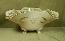 "CAMBRIDGE ""CROWN TUSCAN"" GOLD DECORATED #3400/4, 12"" 4-FTD FLARED & CRIMPED BOWL"