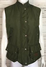 Ralph Lauren Authentic Dry Goods Supply Co Womens Cargo Vest Army Green Sz Small