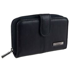 Lorenz LadiesWomens Leather Purse/Wallet Black RFID Protected