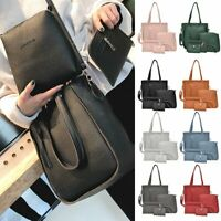 4pcs Women Leather Handbag Lady Shoulder Bags Tote Purse Messenger Satchel Lot