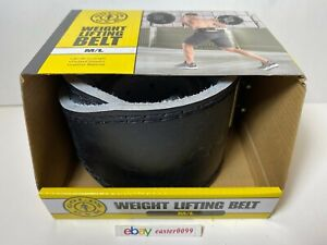 Gold's Gym Black Weightlifting Belt 30''-48'' in Length M/L Brand New