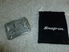 VINTAGE SNAP ON TOOLS AUTOMOTIVE BELT BUCKLE PEWTER COLLECTABLE