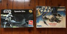 Star Wars model Darth Vader tie fighter-1995 and Stormtrooper speeder bike-1996