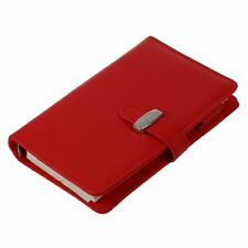 Pocket Organiser Planner Leather Filofax Diary Notebook Red A4Y9