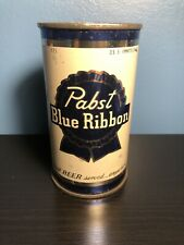 PABST BLUE RIBBON FLAT TOP BEER CAN