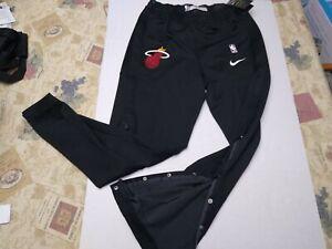 Men's Nike Miami Heat Warm Up Pants Team Issued L Tall Engineered