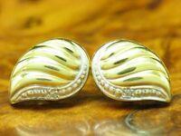 14kt 585 Gelbgold Ohrstecker mit Diamant Besatz / Ohrringe / 1,4g