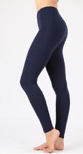 Zenana  Outfitters Premium Stretch Cotton Full Length Leggings 1X Navy