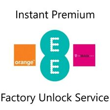 UK EE Orange T-Mobile Premium Factory Unlock Service For iPhone Clean/Replaced