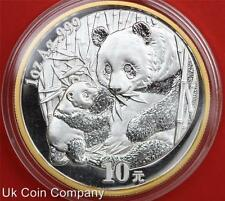 2005 China Panda Beijing Exposition 1oz 99.9% Silver 10 Yuan Coin Boxed/coa