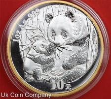 2005 China Panda Beijing Exposition 1oz 99.9% Silver 10 Yuan Coin Boxed/coa
