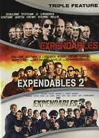 The Expendables, The Expendables 2, The Expendables 3 DVD - New Free shipping