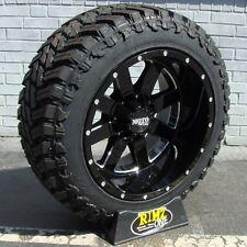 """20"""" Moto Metal 962 33x12.50R20 Atturo MT 33"""" tires 20x12 Ram F150 Silverado 1500"""